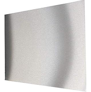 EDELSTAHL ROSTFREI Farbe SILBER Herdabdeckplatten 4er Set robust /& schwer