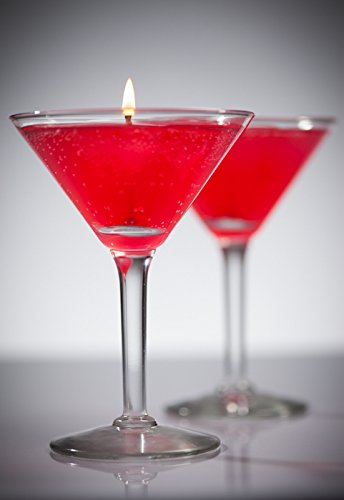Cosmopolitan Scented Gel Candle in Martini - Martini Glass Gel Candle