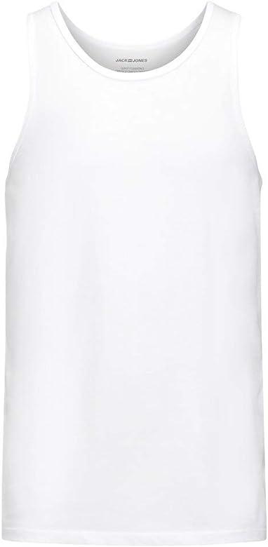 Jack & Jones Jacbasic Tanktop 2 Pack Camiseta sin Mangas, Blanco (White White), Small (Pack de 2) para Hombre: Amazon.es: Ropa y accesorios