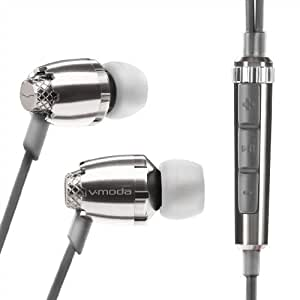 V-MODA Remix Remote In-Ear Noise-Isolating Metal Headphone with 3-Button Apple Control (Chrome)