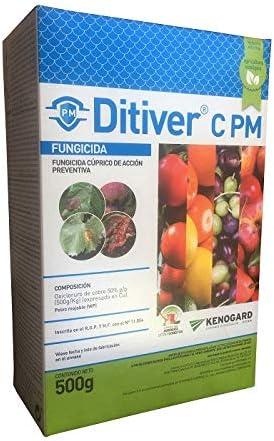 KENOGAARD Fungicida cúprico 500g de acción preventiva DITIVER C PM contra mildiu, Alternaria, Antracnosis.