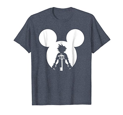 Mens Disney Kingdom Hearts T-shirt Large Heather Blue
