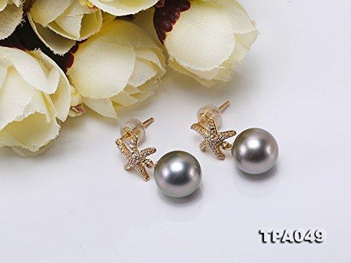 Jyx précieux Or 14K 10mm Perle de Tahiti Boucles d'oreille