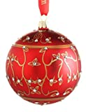 Waterford Jewel Holiday Scroll Ball