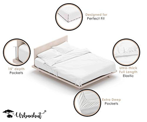 URBANHUT 700 Thread Count Egyptian Cotton Sheets Set