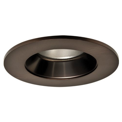(Halo Recessed TL402TBZS 4-Inch LED Trim Shower Rated Solite Regressed Lens with Reflector, Tuscan Bronze by Halo Recessed)