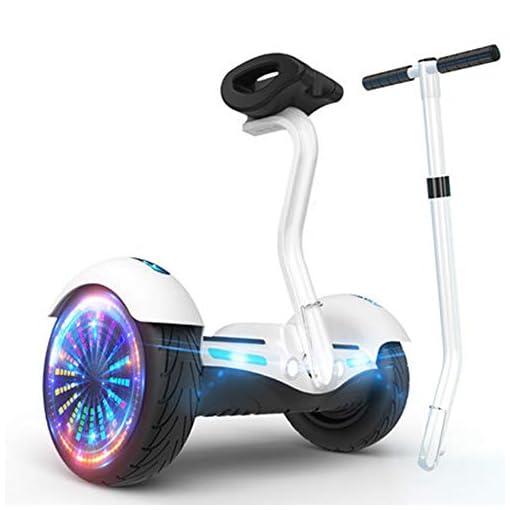 NANE Mode De Sécurité pour Enfants Hoverboard Self Balancing Scooter avec Application – Moteur De Haut-Parleur Bluetooth – Lumière Colorée LED – Segway Adulte,A
