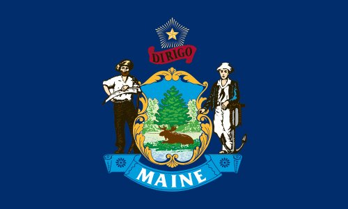 Maine State Flag (America's Flag Company SF3X5NOME1 3-Foot by 5-Foot Nylon Maine State Flag with Canvas Header and)