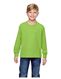 Fruit of the Loom Youth 5 oz., 100% Heavy Cotton HD Long-Sleeve T-Shirt -
