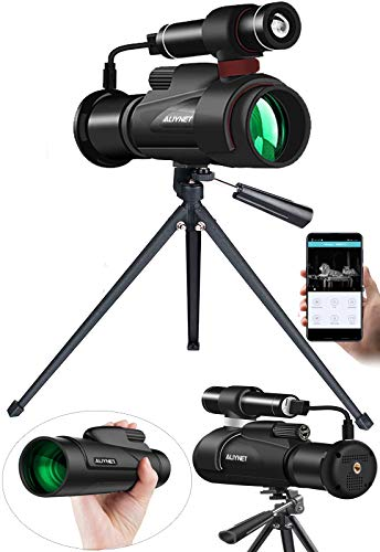 Aliynet Night Vision Monocular,1080P HD Night Vision Goggles with WiFi and APP Function,Support Multi-Users Watching,IR Monoculars for Wildlife Observation,Camping Watching