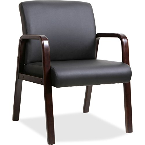 Lorell Guest Chair, Black Espresso, 24 by 25-5 8 by 33-1 4-Inch