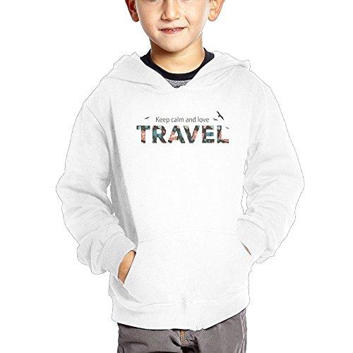 chibaokun Keep Calm and Love Travel Boys' Pullover Hood Pocket Sweatshirt Children's Fashion Hoody by chibaokun (Image #1)