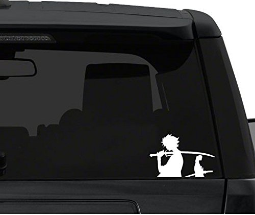 Car Window Vinyl Decal Sticker Kawaii Decals Samurai Champloo Duo