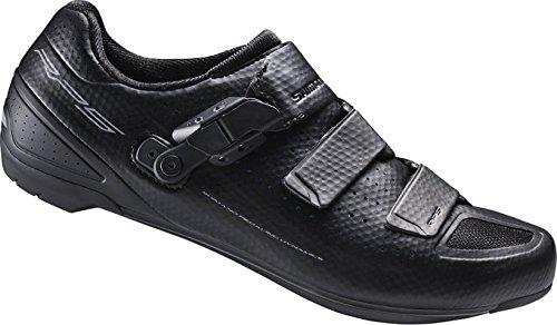 Shimano Scarpe per bici da corsa, adulti, SH-RP5L, misura 50, SPD-SL, chiusura in velcro/a cricchetto, ESHRP5NG500SL00 Nero