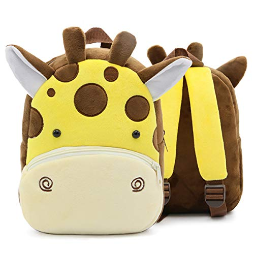 Cute Toddler Backpack,Cartoon Cute Animal Plush Backpack Toddler Mini School Bag for Kids Age 1-4Years Old(Giraffe)
