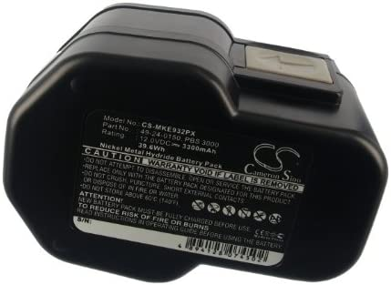 LokTor P12PX BXL12 0502-25 BXS12 BF12 BX12 LokTor S12PX LokTor P12TX B12 0502-52 LokTor S12TX 12V Power-Plus 0502-23 CS-MKE932PX Batteria 3300mAh compatibile con MXS12, MILWAUKEE MX12