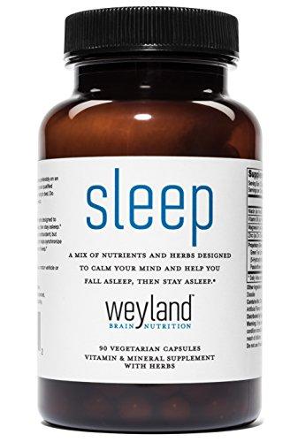 Weyland  Sleep   Designed To Calm Your Mind And Support Sleep  W  6Mg Of Melatonin  L Theanine  Ashwagandha  Valerian Root