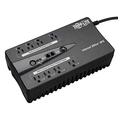 Tripp Lite 550VA UPS Desktop Battery Back Up, 8 Outlet, 300W 120V Standby, Ultra-Compact, USB (INTERNET550U)