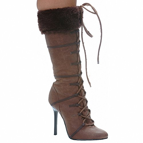 Brown Viking Boots (Ellie 433-VIKING Womens Sexy Comfortable 4