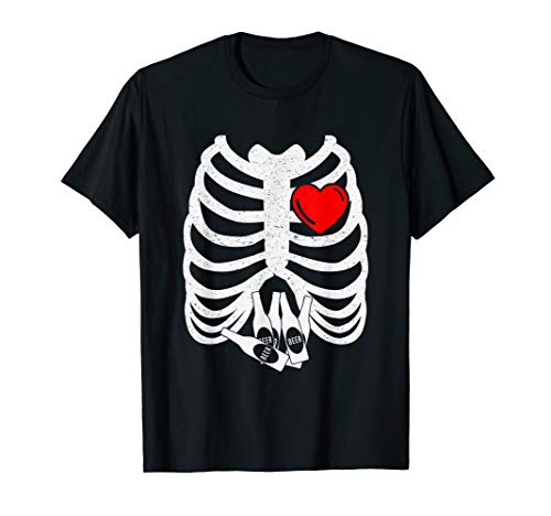 Halloween Pregnant X-Ray Skeleton Costume Gift Beer Lovers T-Shirt
