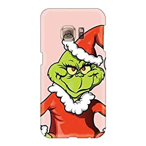 Protective Cell-phone Hard Cover For Samsung Galaxy S6 With Custom Trendy The Grinch Christmas Illustration Skin TimeaJoyce