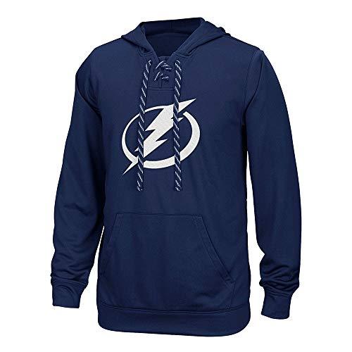 NHL Tampa Bay Lightning Adult Men Team Crest Performance Fleece Hockey Hood,3X-Large,Dark Blue ()