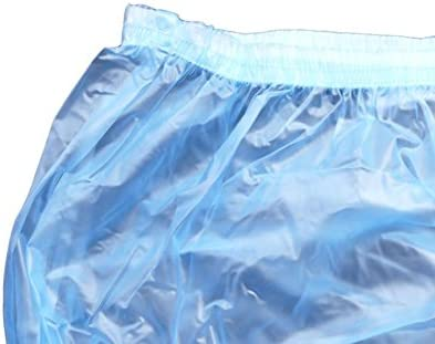 Haian Adult Incontinence Pull-on Plastic Pants Color Transparent Blue XXLarge