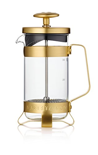 French Press Coffee Pot - Midnight Gold - -