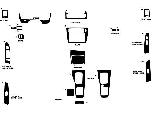 Applique Carbon Fiber - Rdash Dash Kit Decal Trim for Mitsubishi Diamante 2000-2003 - Carbon Fiber 4D (Blue)