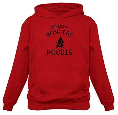 - TeeStars - Funny Camping Gift - Official Bonfire Women Hoodie Large Red