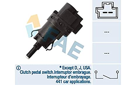 7.1052 Facet interruptor de luz de freno acoplamiento interruptor mando interruptor de embrague