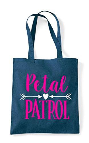 Petrol Petal Shopper Bag Flowergirl Tote Patrol Cute CPwqrYC