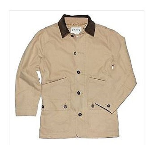 Mens Fall Jacket (Orvis Men's Corduroy Collar Cotton Barn Jacket (Medium, Saddle))