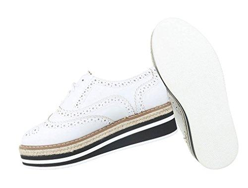 Damen Halbschuhe Schuhe Plateau Business Elegant Schnürer