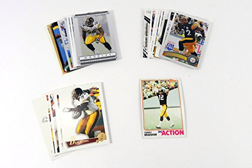 (25) Pittsburgh Steelers NFL Football Trading Cards GUARANTEED Terry Bradshaw In Every Group