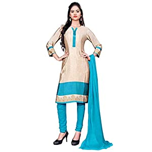 Uniform Sarees Corp Women's Italian Crepe Unstitched 3 Piece Fabric Set of Salwar, Kameez and Dupatta (D.No-318/2019…