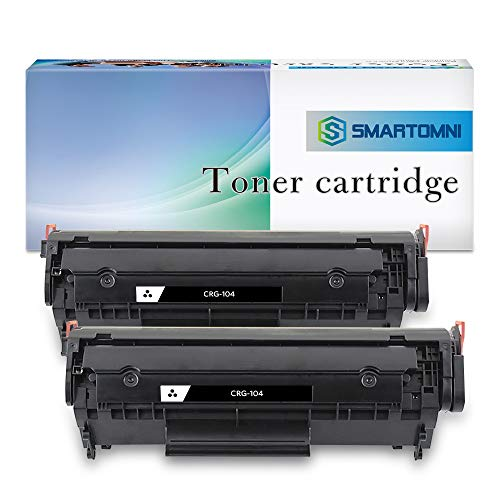S SMARTOMNI Compatible Toner Cartridge for Canon FX-10 FX-9 104 HP 12A Q2612A (2-Pack), use with Canon ImageClass D450 D420 D480 MF4270 MF 4350d HP Laserjet 1020 1022 1022n 3015 ()
