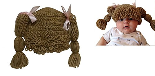 The Lilly Hat Woven Yarn Hair Hat - Infant Baby Toddler Child Size - Light Brown