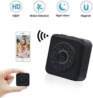 Mini Cámara Wifi LXMIMI Cámara Espía 1080P Cámara Oculta con Video Remoto/ Detector de Movimiento/ IR Visión Nocturna IP Camara Seguridad Inalambrica ...