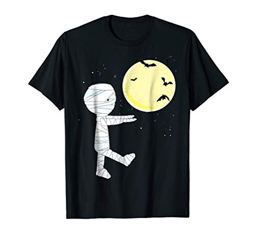 Funny Boy in Mummy Costume Halloween T-shirt for Kids