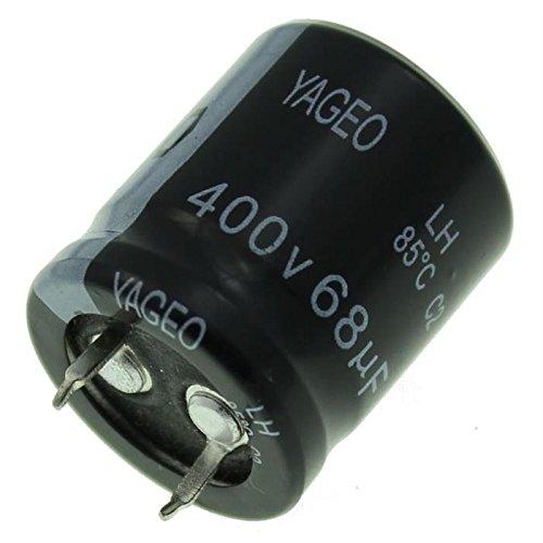 5x Chimique Condensateur 68/µF 400V 85/°C ; LH400M0068BPF-2225 ; 68uF