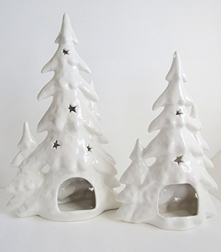 Best White Ceramic Lighted Christmas Tree May 2019 Top Value