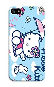 Hello Kitty Print Tpu Rubber Case For Iphone 5/5S - For Fans