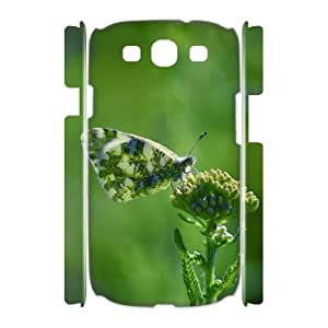 3D Cases for Samsung Galaxy S3, Butterfly 41 Cases for Samsung Galaxy S3, Evekiss White