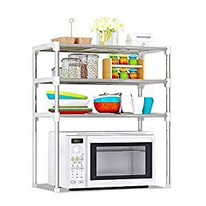 3-Tier Multi-functional Kitchen Storage Shelf Rack Microwave Oven Shelving Unit