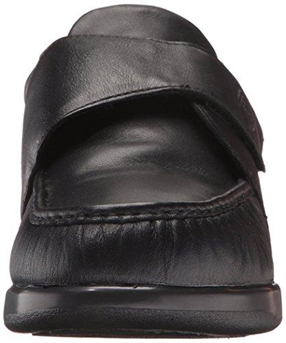 Propet Mens Pucker Moc Strap Shoe Black O0vXiQa