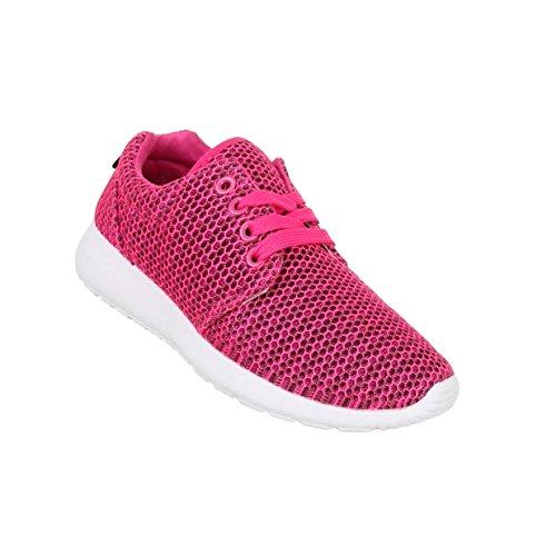 Damen Schuhe Freizeitschuhe Sneaker Slipper Pink
