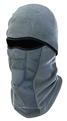 - Ergodyne N-Ferno 6823 Winter Ski Mask Balaclava, Wind-Resistant Face Mask, Thermal Fleece, Gray