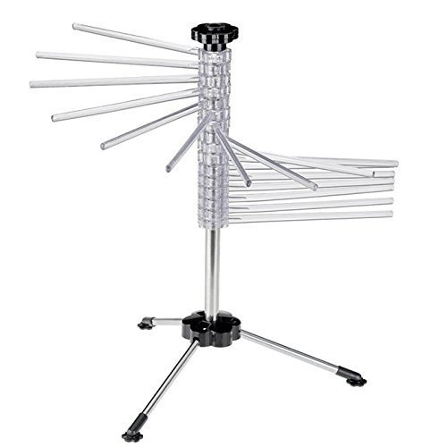 Spiral Pasta Drying Rack with 16 Rods and Pasta Wand, BPA-Fr