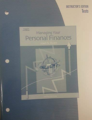 Managing your Personal Finances, Instructors Edition, Tests